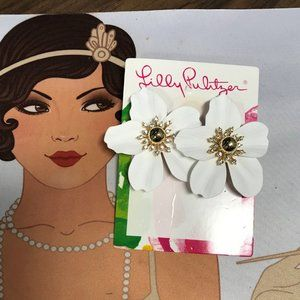 Lilly Pulitzer White Orchid Earrings